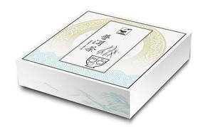简约中国风花纹普洱茶包装盒 PSD