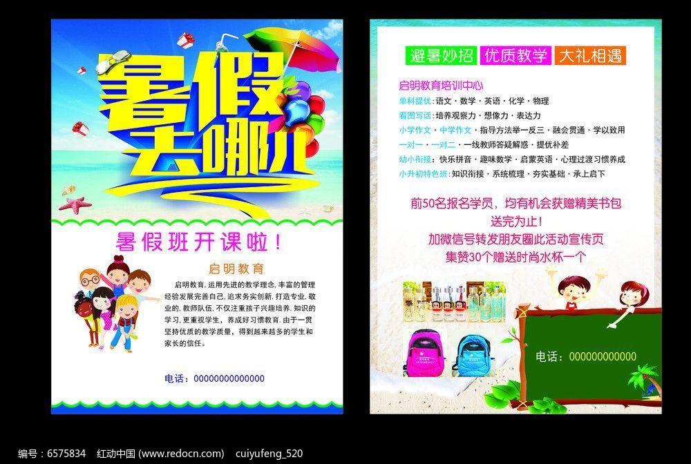 教育机构学校暑假培训班宣传单