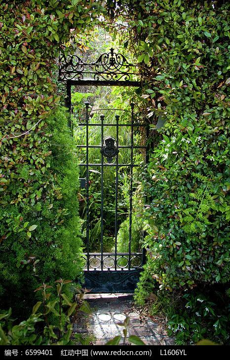 原创设计稿 方案意向 围墙|栏杆|大门 绿植中铁艺通道门  请您分享图片