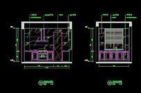 欧式风格整体橱柜立面图 CAD