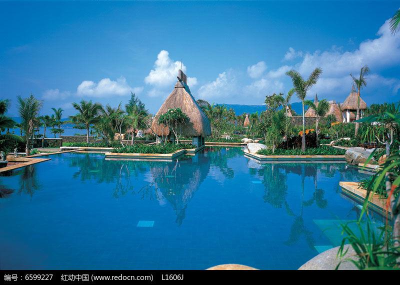 欧式景观游泳池意向图