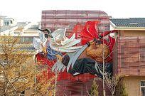 日本武士塑料雕塑小品
