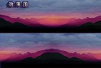 山上烟雾弥漫风景视频