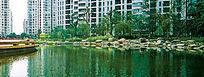 现代公园溪水水景效果图