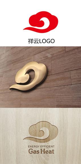 祥云状LOGO设计适合IT公司网络公司标志设计