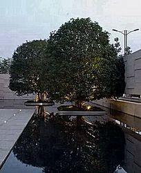 小广场景观墙