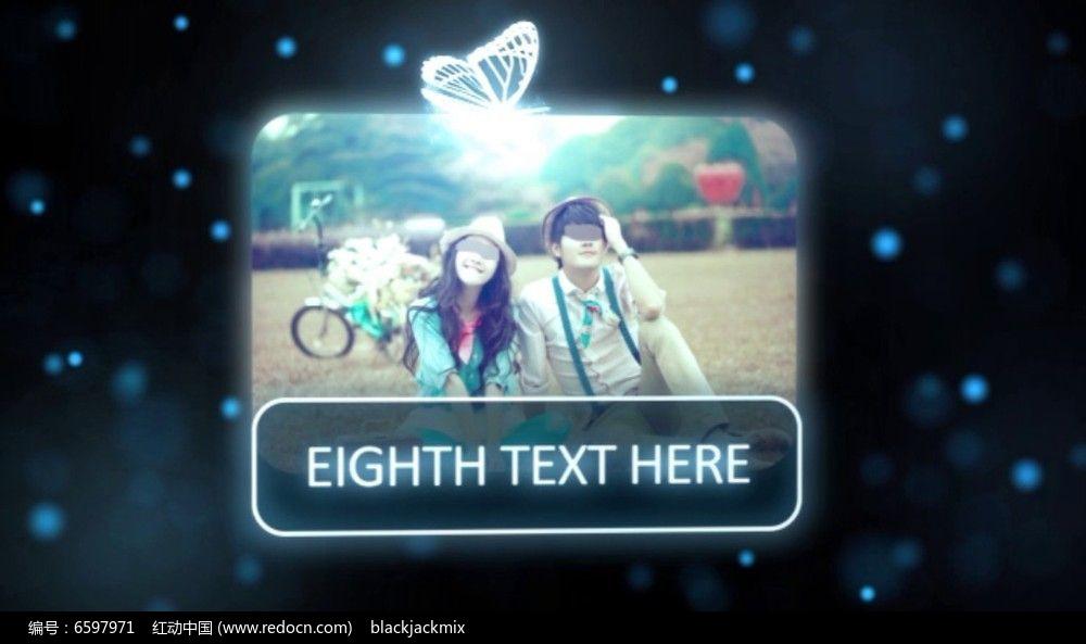 光之蝴蝶飞舞着介绍字幕AE模板