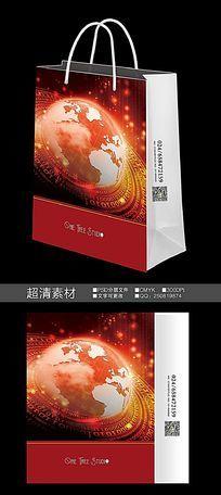 红色IT科技数码手提袋