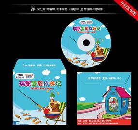 卡通DVD光盘套封面设计 AI