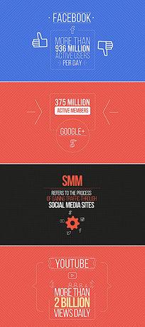 社交媒体营销ae模板