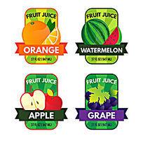 水果饮料包装标签矢量模版