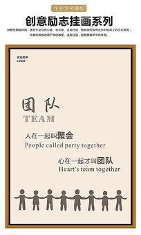 团队设计企业文化展板
