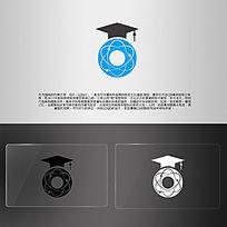 幼儿园宇宙之光毕业帽礼帽蓝色LOGO