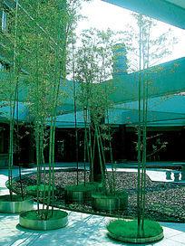 展厅内部旱水景观图