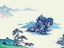 中国风水墨画山水画装饰