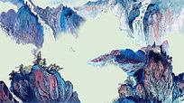中国风水墨山水艺术画