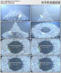 edius高贵闪耀钻石山企业LOGO演绎模板