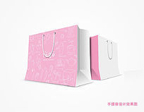 粉色系服装店手提袋