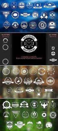 复古的徽章标签创建器模板