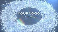 会声会影高贵闪耀钻石山企业LOGO演绎模板