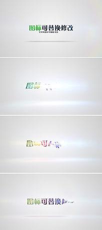 简洁企业logo标志演绎ae模板