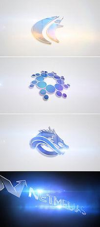 简洁三维logo标志开场片头模板