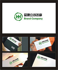 HH字母组合商业服务行业标识