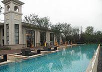 别墅游泳池水景 JPG