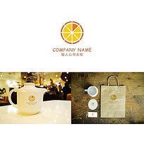 创意时尚简约美食店标志