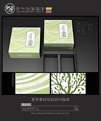 简约素材茶叶礼盒包装设计平面图图片