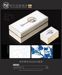 简约素雅茶礼盒包装设计平面图图片