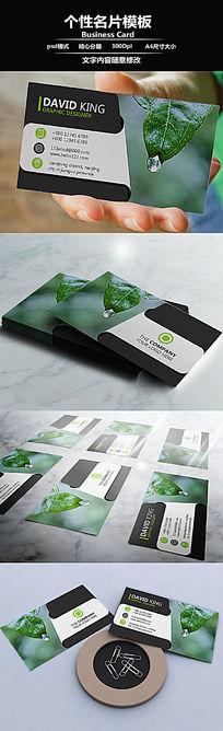 绿色植物摄影师个人立体名片设计