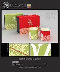 清风茶叶礼盒包装设计平面图图片