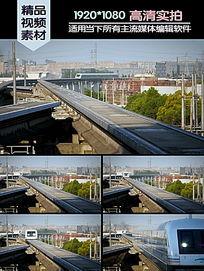 上海磁悬浮列车轨道行驶高清实拍视频素材