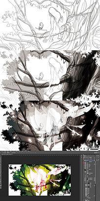 妖怪人物插画
