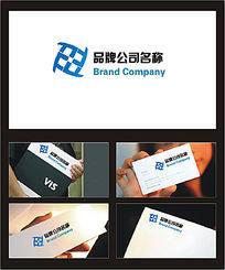 字母F组合的科技服务行业标志