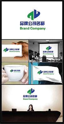 对称字母科技服务行业标志