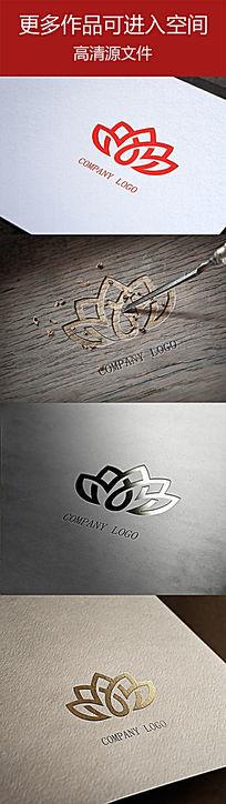 感性类花瓣样式公司logo设计