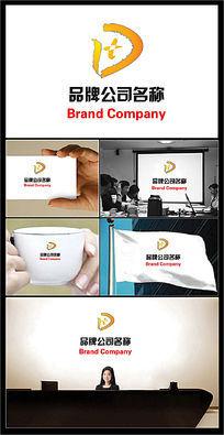DT字母成汉字田的公司标志