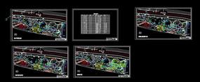 带状公园景观设计CAD平面图