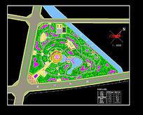 公园广场CAD平面景观设计
