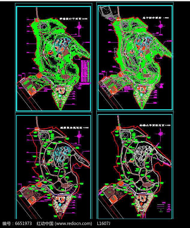 公园施工图总图给排水图片