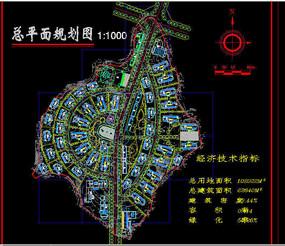 开发区总平面规划图CAD