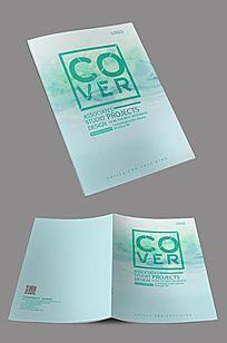 绿色创意产品手册封面设计