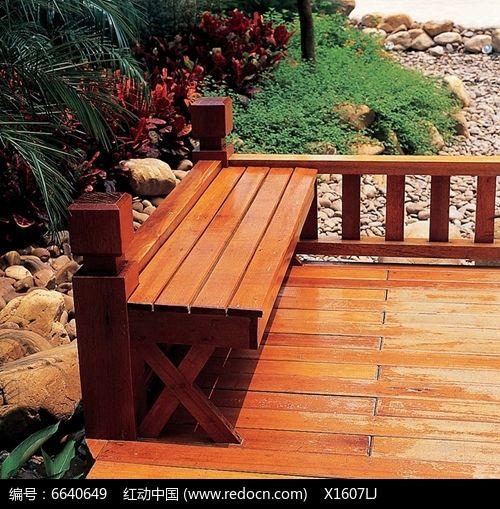 木质平台木质休息座椅jpg素材下载