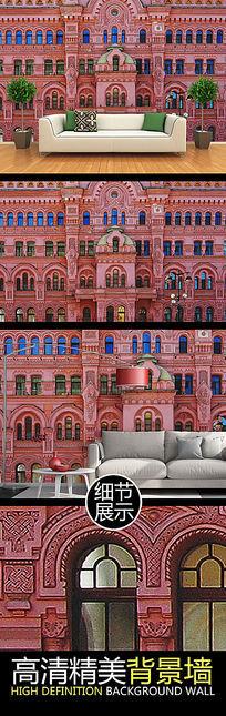 欧式建筑风格艺术背景墙
