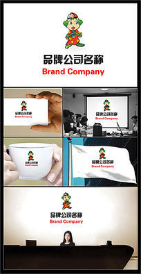 泡桐树为原型戴地主帽的中国传统娃娃标志