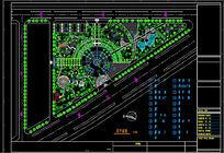 三角地带公园景观设计平面CAD