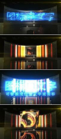 时尚动感歌舞厅酒吧led大屏文字标志展示ae模板