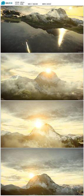 唯美大气云层山峰高清视频素材